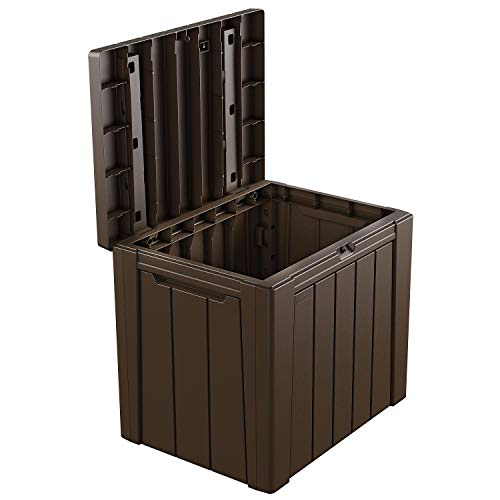 SC Classic Wood-Look Design Urban 30-Gallon Outdoor Deck Box/Storage Table