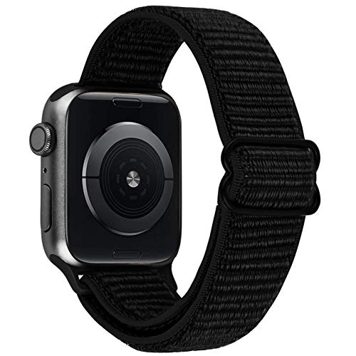 VISOOM Stretchy Band Compatible with Apple Watch Series 6 44mm - Apple Watch Strap 44mm/42mm for iWatch Series SE/5/4/3/2/1 Accessories Elastics Sports Replacement for Men Women