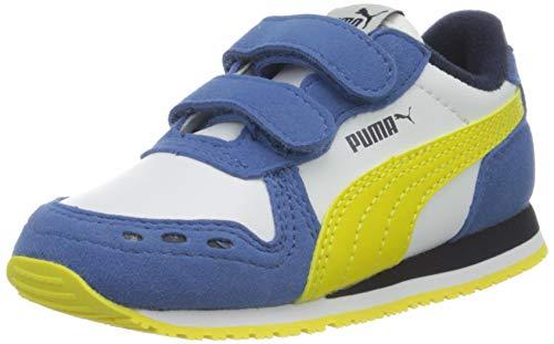 PUMA Cabana Racer SL V Inf, Sneakers Unisex-Bambini, Bianco White/Bright Cobalt/Meadowlark, 22 EU