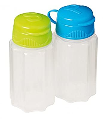 Sistema Mini Salt & Pepper To Go Pots, Blue and Green from Online Kitchenware