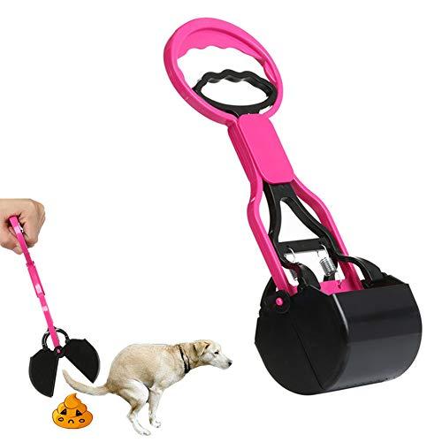 GuangLiu Recogedor Excrementos Perro Bolsas Caca Perro Automático Pooper Scooper Basura Scooper Perro Caminando Bolsa Caca de Abrazadera de Scoop Pink