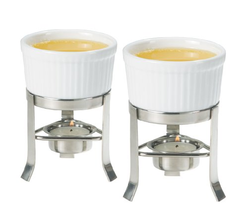 Oggi 2-Piece Butter Warmer Set with Stainless Steel Stand