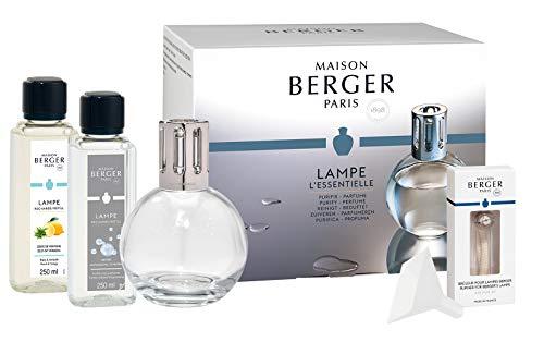 Lampe Berger Starter-Set NEW EDITION RUND | inkl. Broschüre und Anleitung | inkl 2 x 250 ml Duft | Deine Lampe - Dein Duft von Maison Berger