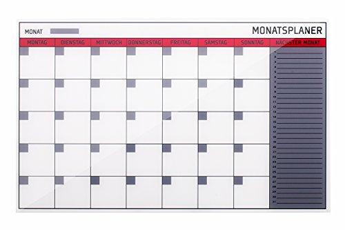 Bi-Office gl164001rahmenlos, vetro planning mensile, 78x 48cm