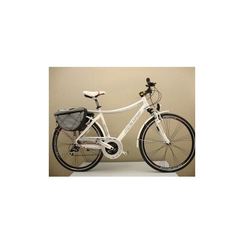 Biciclasse C.S. Bicicletta Trekking 28' KLASS VIRGOLA Bianco-Grigio TG.52
