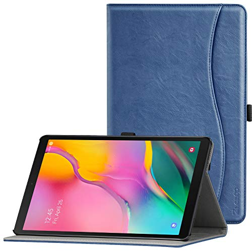ZtotopCase Case for Samsung Galaxy Tab A 10.1 2019, Premium Leather Business Stand Folio Cover, for Samsung Galaxy Tab A 10.1 T510 / T515 2019 Tablet, Navy Blue