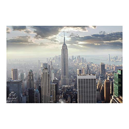 Bilderwelten Fotomural - Sunrise in New York - Mural apaisado papel pintado fotomurales murales pared papel para pared foto 3D mural pared barato decorativo, Dimensión Alto x Ancho: 255cm x 38