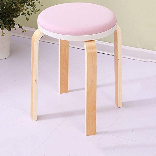 LJHA Tabouret pliable Tabouret en bois massif Chaise haute banc 13 couleurs en option Le nombre de 48cm en option chaise patchwork (Couleur : M, taille : 1#)