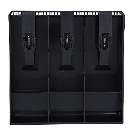 Cassetto Porta Contanti, inserto per il Registratore di Cassa 3 Fessure per Monete da 3 Banconote, Inserto Salvadanaio, Custodia Salvadanaio, Cassetta di Sicurezza((Black))