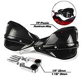 Protector Manillar Moto Paramanos K.T.M Guardamanos Moto para 7/8'y 1 1/8' Protectores de Mano Manoplas para Motocross Dirt Bike Off Road ATV Yamaha Kawasaki Suzuki Honda K.T.M-Negro