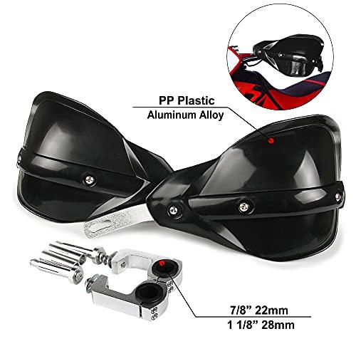 Protege Main Moto Protege Main Moto Cross Protege Main K.T.M 22 mm et 28 mm pour Offroad VTT Yamaha Kawasaki Suzuki h.o.n.d.a K.T.M Moto Pit Dirt Bike Motocross-Noir