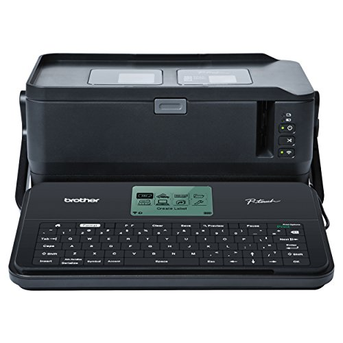 Brother P-touch Label Maker, Commercial/Lite Industrial Portable Labeler, PTD800W, Wi-Fi-Mobile-PC Connectivity, Extra-Wide Multi-Line Labeling, Links to Excel, Black