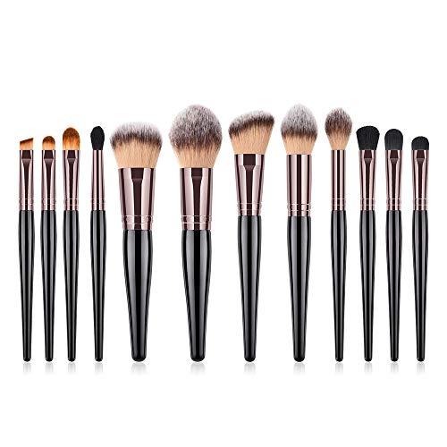 MEIYY Pinceau De Maquillage 12 Pcs Premium Maquillage Pinceaux Set Poudre De Polissage Blush Blender Fard À Paupières Blender Fard À Paupières Correcteur Surligneur Brosse