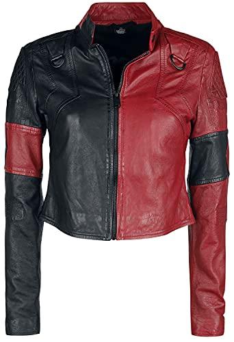 Suicide Squad 2 - Harley Quinn Frauen Lederjacke schwarz/rot XXL