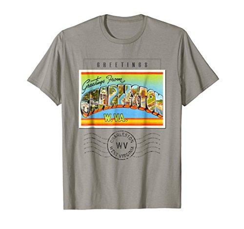 Charleston Postcard T Shirt West Virgina WV Travel Souvenir