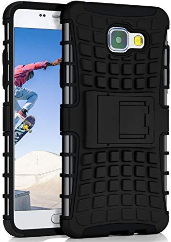 MoEx Caso Serbatoio per Samsung Galaxy A5 (2016) | Caso Esterno con Protezione Dual Layer | Sacchetto di Protezione delle Cellule OneFlow | Copertura Posteriore in Nero