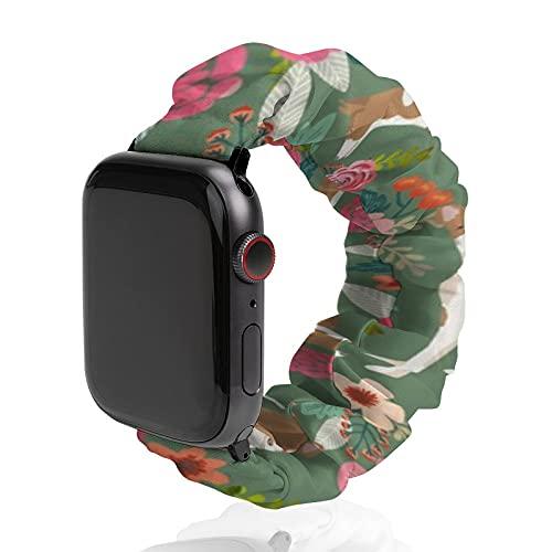 Correa de repuesto para hombre y mujer, compatible con Apple Watch de 42 mm/44 mm, suave, elástica...