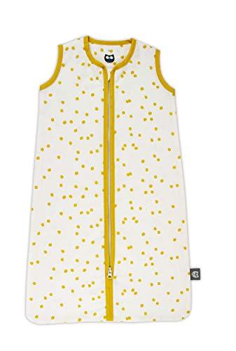 Briljant baby - zomerslaapzak spots - oker - afmetingen 90 cm met ritssluiting - hoogwaardige kwaliteit