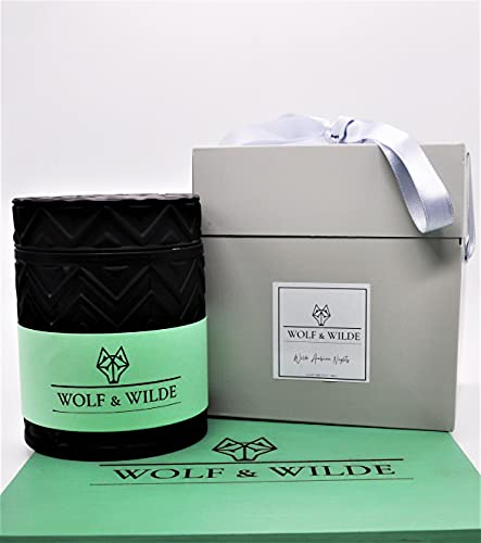 Wolf & Wilde Arabian Nights - Vela perfumada y vela de lujo con diseño de arsénico