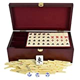 Sxxiis Boutique Japan Mahjong Set - Selected Healthy Acrylic Production,Wooden Gift Box, Majong Set Mah Jong...