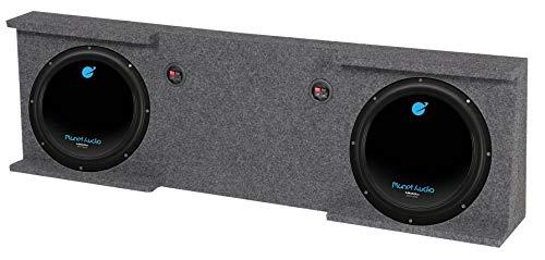 GMC Chevy Crew Cab 07-13 10' Box Enclosure + 2) Planet Audio AC10D 1500W Subs