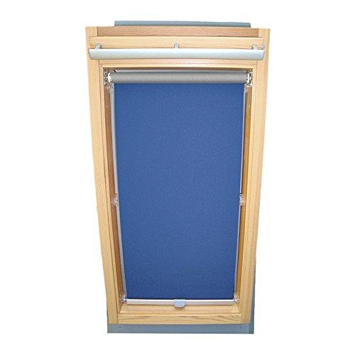 Easy-Shadow Dachfenster Abdunkelungsrollo Basis Rollo Thermo für Typ Roto WDF R4 / R7 / R45 / R48 / R75 / R78 / R4_K/H R7_K/H Größe 5/7 - in der Farbe blau