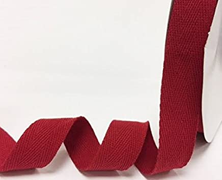 Bertie s Bows 40/mm gris algod/ón Herringbone cinta//banda en un 4/m longitud N.B. este es un corte de un rollo, presentado en una tarjeta de bertie s Bows