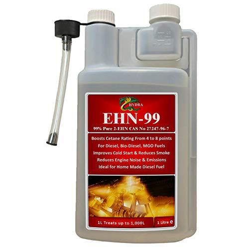 HYDRA EHN-99, 2-etilesil-nitrato Puro al 99% 2 EHN migliora le prestazioni Potenziatore di Cetano Booster Additivo per diesel 1 L