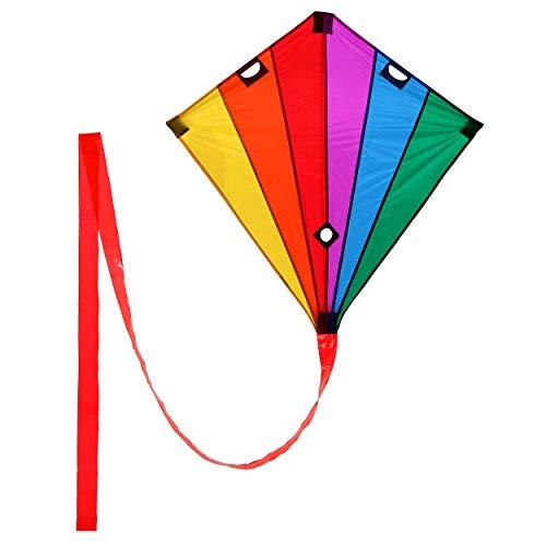 Wolkenstürmer Racer Lenkdrachen Rainbow, 90x90cm, Leichter...