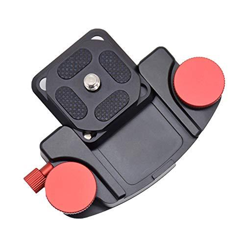 solawill Camera Belt,Clip da Cintura Cinghia da Supporto Zaino per Fotocamera Clip con Piastra Lega di Alluminio Piastra a Sgancio Rapido Supporto Universale per Fotocamera per Viaggi,Sport, Ciclismo