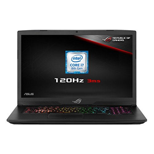 ASUS ROG Strix GL703GM-EE014T 17.3 Inch FHD 120 Hz with 3 ms Screen Gaming Laptop - (Black) (Intel Core i7-8750H Processor, 16 GB RAM, 256 GB PCI-e SSD + 1TB SSHD, NVidia GTX1060 6 GB, Windows 10)