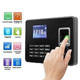 Tosuny Máquina de Asistencia Biométrica de Huella Digital 2.8 Pulgadas LCD Capacidad de Huella Digital 1000 TCP/IP/USB Relojes para Fichar de Huellas Dactilar (Enchufe de la UE)
