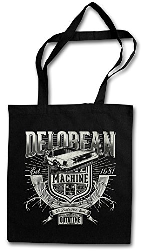 DeLorean Time Machine Hipster Shopping Cotton Bag - Back To The Future