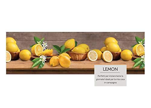 SOFFICIOSO Passatoia con Retro Antiscivolo Tappeto Cucina Sprinty Lemon 50x230 Lemon