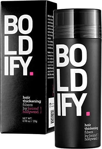 BOLDIFY Hair Fibers for Thinning Hair DARK GREY Undetectable Natural Giant 28g Bottle Completely product image