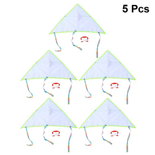 BESPORTBLE 5Pcs Leere Drachen Dreieck Langlebig Leichte Drachen Steigen Drachen Malen Diy Graffiti-Drachen für Kinder Outdoor-Aktivitäten Kinder