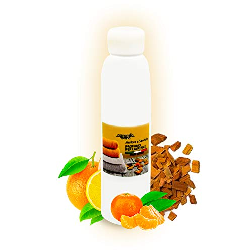 Parfüm für die Waschmaschine, Amber und Sandelholz, Duft für die Waschmaschine, 125 ml, Wäscheduft, Wäscheparfüm, Made in Italy