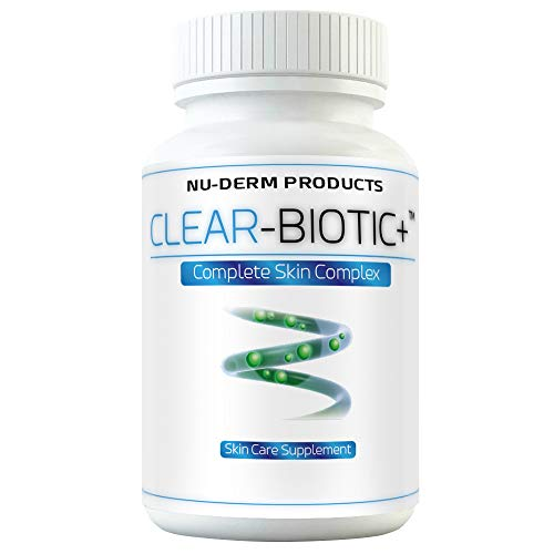 Acne Supplements Clear Biotic 20.1 gm Acne Pill Vitamins A E C B2 Probiotic Pathway