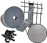 sorton Brise-Vue en PVC pour extérieur pour Panneau grillagé, 46 mm x 70 m, 700 g/m², Protection pour clôture, Balcon décoratif + Clips Anthracite (Gris - RAL7040)