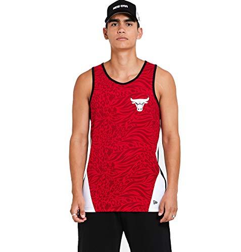 New Era Chicago Bulls NBA Shirt Tanktop Basketball Fanshirt Trikot Rot - S