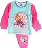 Schlafanzug Kinder Pyjama Hose Shirt Frozen Disney Eiskönigin Anzug Anna ELSA (2/3-92/98)