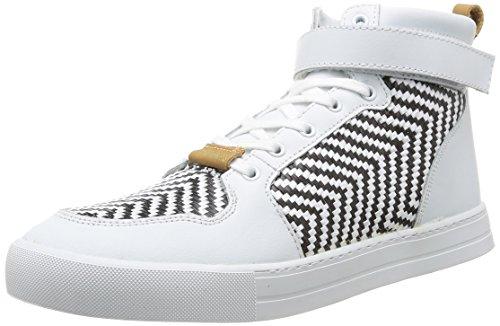Eleven Paris Sneaker RAF, Baskets Mode Homme - Blanc (Black&White), 42 EU