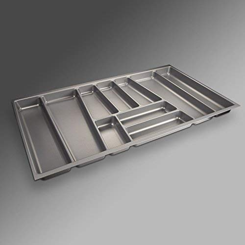 ORGA-BOX® II Besteckeinsatz für Nobilia 90er Schublade (462 x 805 mm BITTE MESSEN SIE IHR SCHUBLADENINNENMAß!) silbergrau