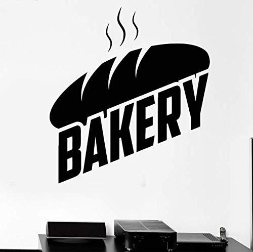 Bäckerei Brot Wandtattoo Aufkleber Bake Shop Bäcker Aufkleber Wandbild Vinyl Wandaufkleber Küche Abnehmbare Wohnkultur 62 * 56Cm