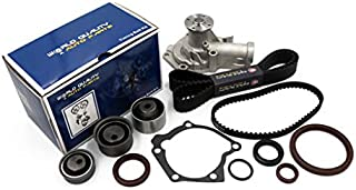 Timing Belt Water Pump Kit fits for 1999 2000 2001 2002 2003 2004 2005 Mitsubishi Eclipse, 2001-2005 Chrysler Sebring, 2001-2004 Dodge Stratus, 1999-2003 Mitsubishi Galant 2.4L l4 GAS SOHC