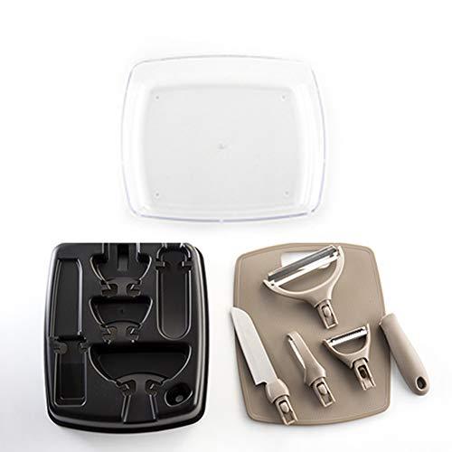 Hombes Keukengerei Set,4 in 1 Keuken Gadgets, met Fruit Mes, Grater, keukengerei voor Peeling, Scheren, Snijden Fruit