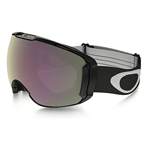 Oakley Men's Airbrake XL Snow Goggles, Jet Black, Prizm Hi Pink, Large
