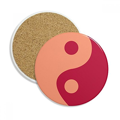 DIYthinker Taiji acht Diagramme Yin-Yang-Muster Stein Getränk Keramik-Untersetzer für Becher-Schalen-Geschenk 2pcs Mehrfarbig