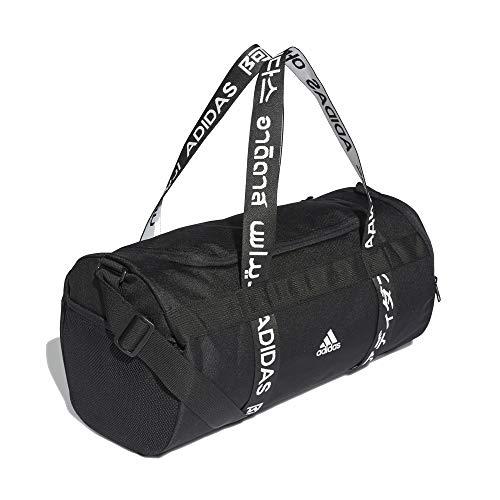 adidas 4ATHLTS Duffel Bag - Bolsa de deporte (tamaño pequeño), color negro y blanco