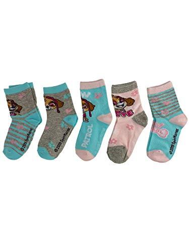 PAW PATROL - Socken Strümpfe für Mädchen mit Hundemotiven von Skye im 5er Pack - Öko Tex, Schuhgröße:27/30